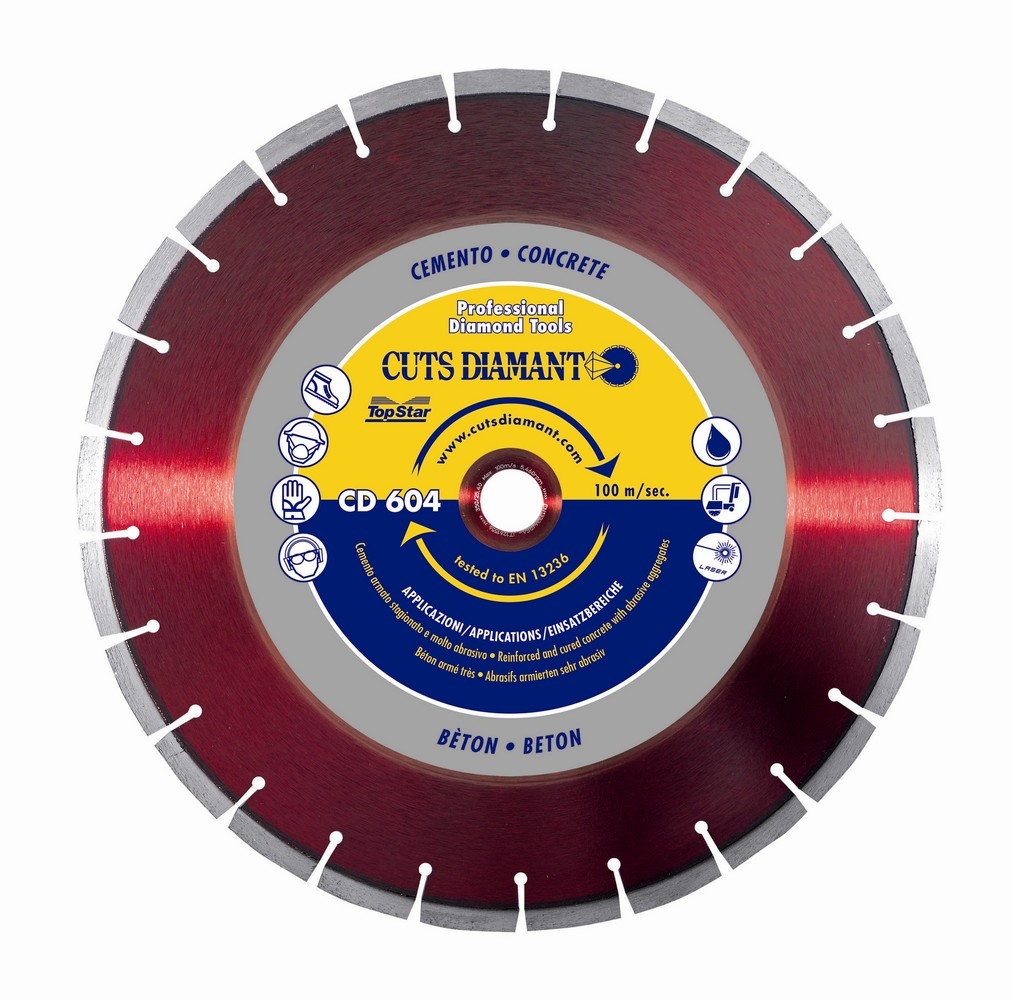 Concrete cutting diamond blade