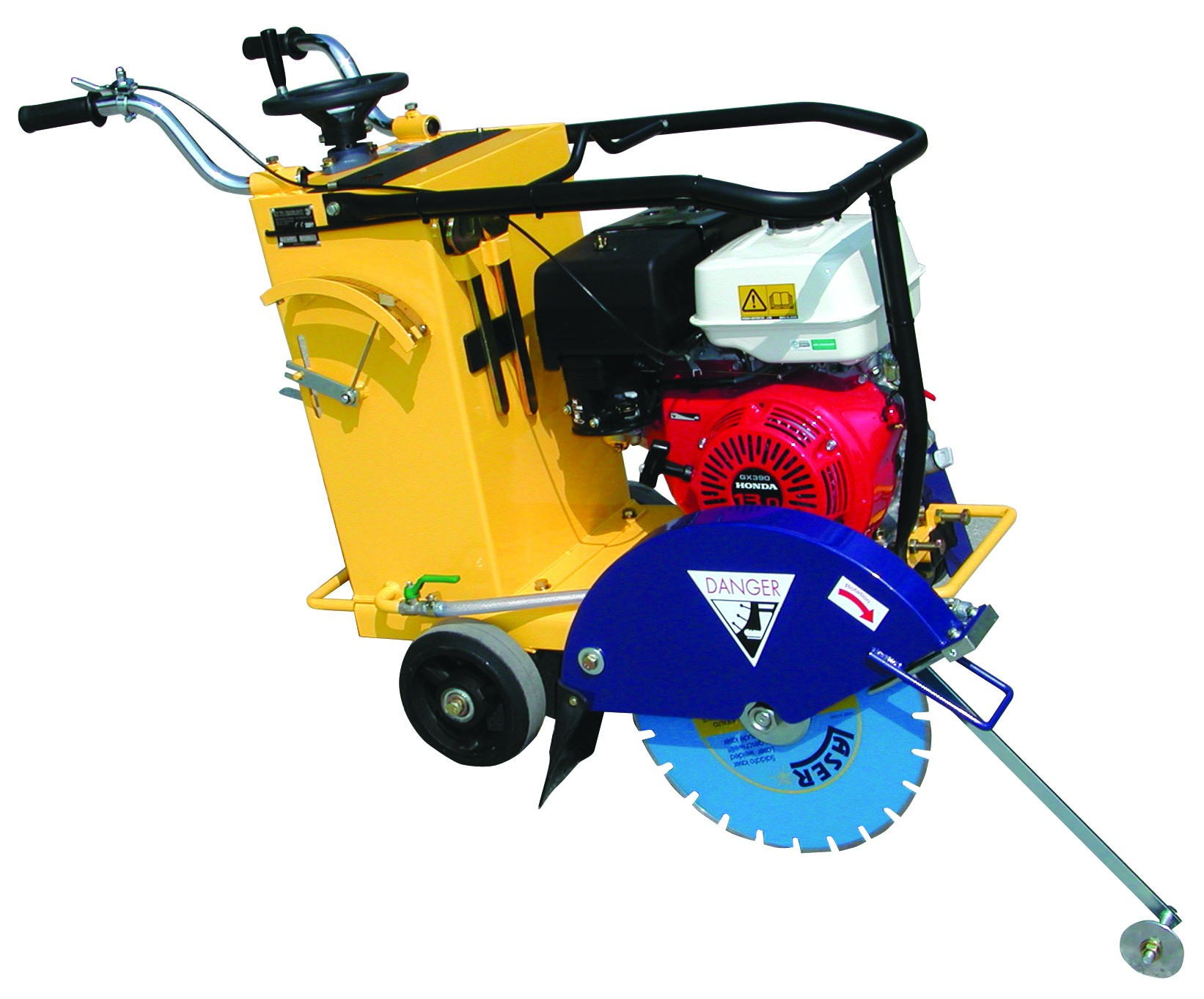 Floor saw for concrete cutting