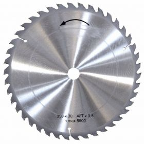 Saw blade without chip limiter