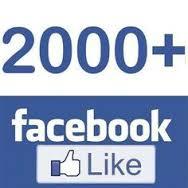 Выполнено 2000 Нравится на нашей странице Facebook
