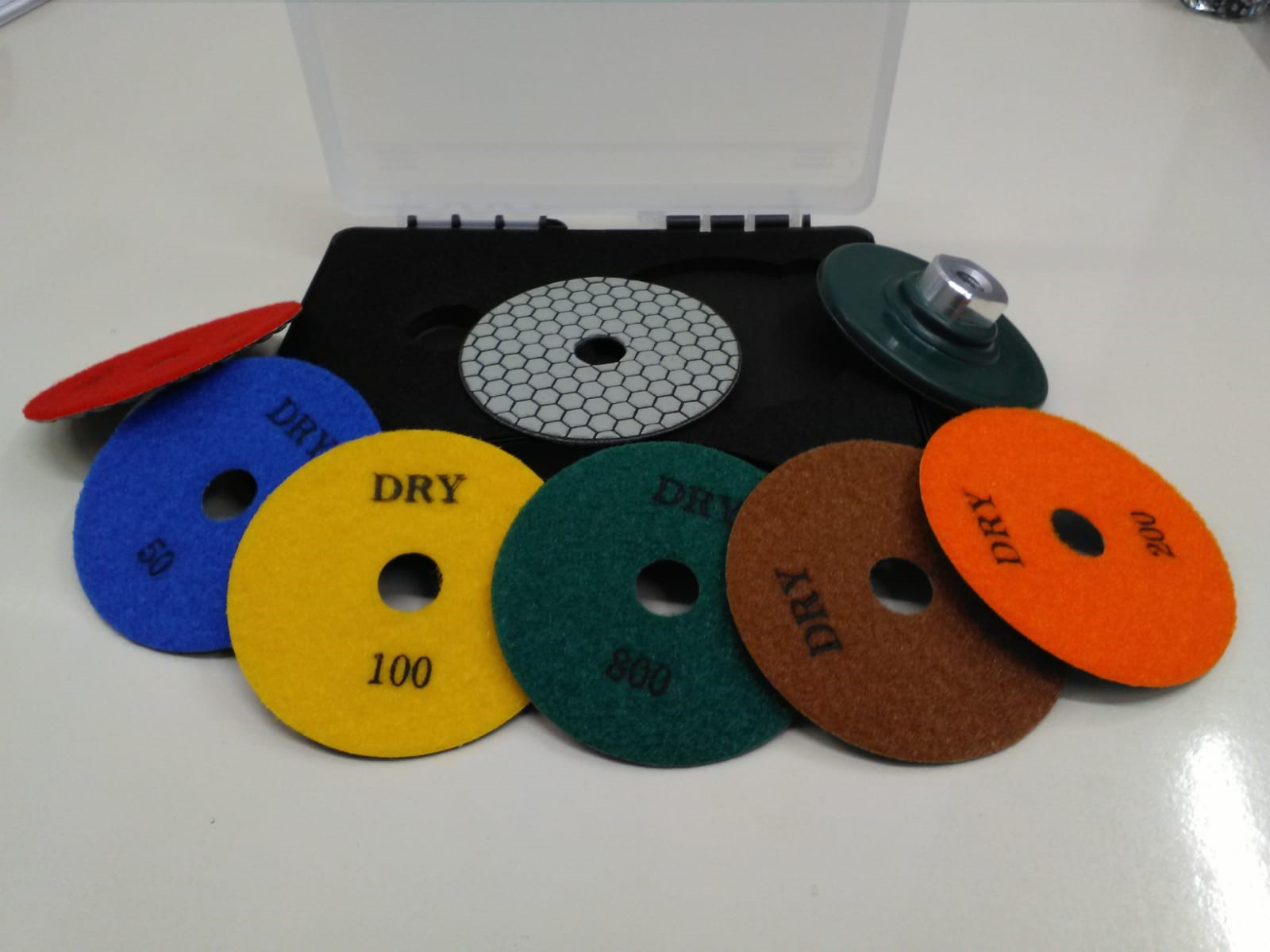 New set of diamond polishing pads