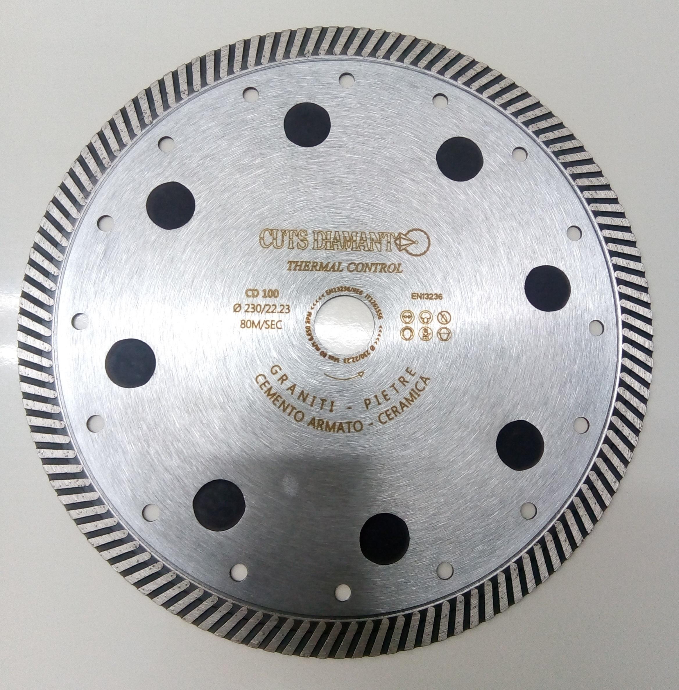 Diamantscheibe mit thermischen Sensoren
